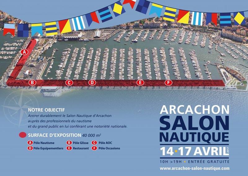 plan salon nautique arcachon - À la découverte du Salon Nautique d'Arcachon édition 2017