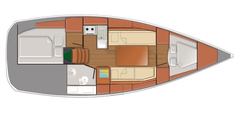 Sun Odyssey 319 Jeanneau intérieur