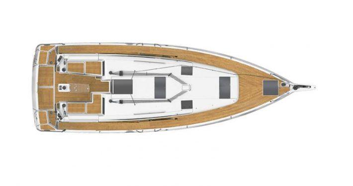 Sun Odyssey 440 plans intérieur