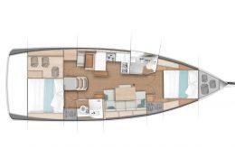 Sun Odyssey 440 ergonomie et circulation à bord