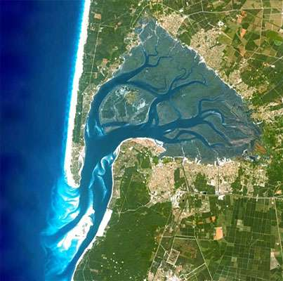 bassin maree basse satellite - Décret Arguin : Pourquoi ce n'est pas possible