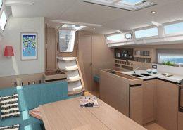 Sun Odyssey 490 aménagements