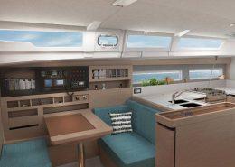 Sun Odyssey 490 intérieur cosy et agréable