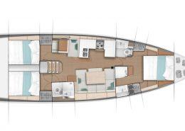 Plans intérieur sun odyssey 490