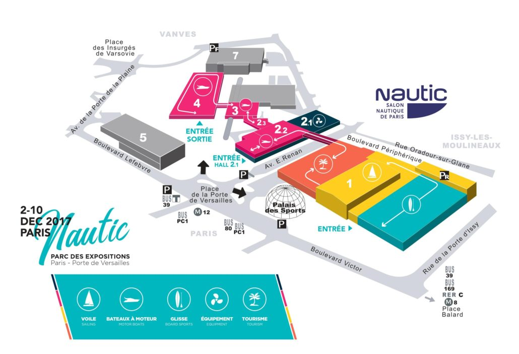 nautic plan 1030x703 - Le Nautic de Paris 2019