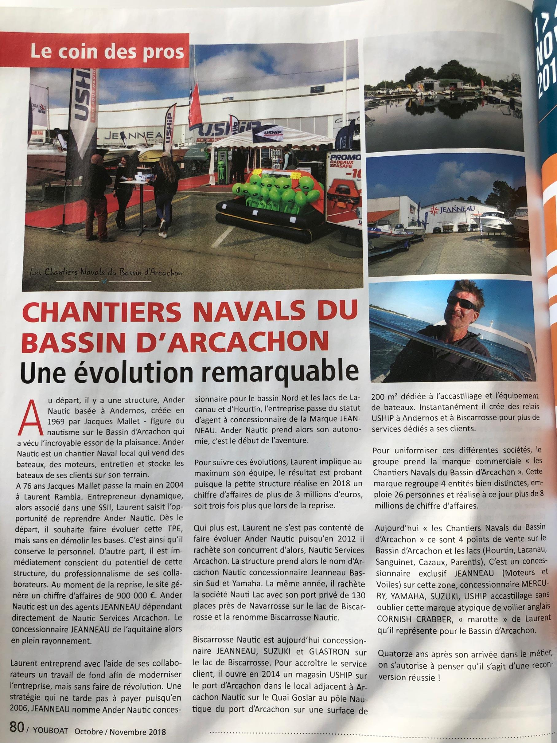article youboat cnbarcachon - En ce mois de novembre, nous sommes à l'honneur du magazine Youboat